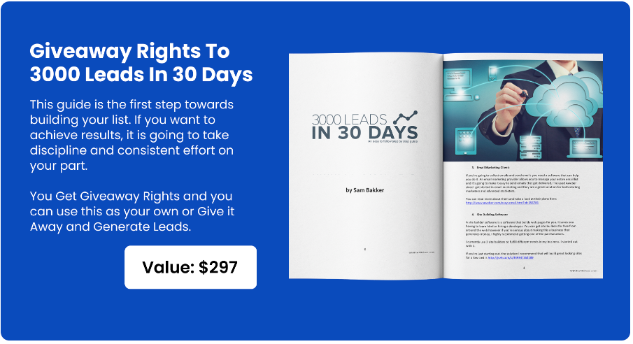 3000 Leads in 30 Days