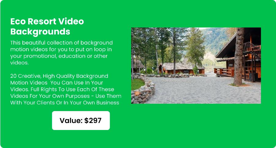 Eco Resort Video Backgrounds