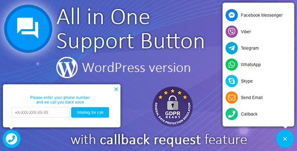 Contact us all-in-one button with callback v1.5.8