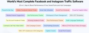 Postley traffic software for Facebook and Instrgram